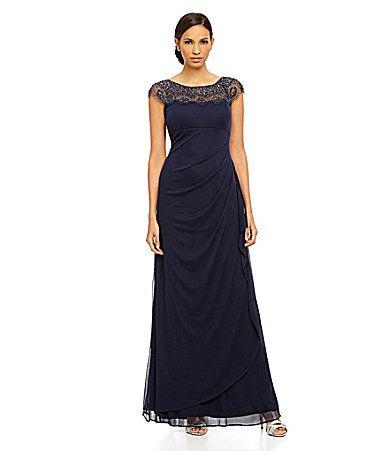 Xscape Beaded Gown #Dillards