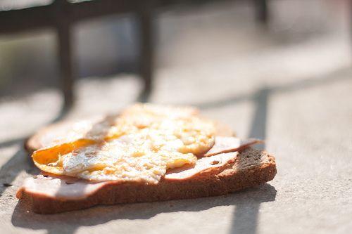 Volkoren boterham met ei