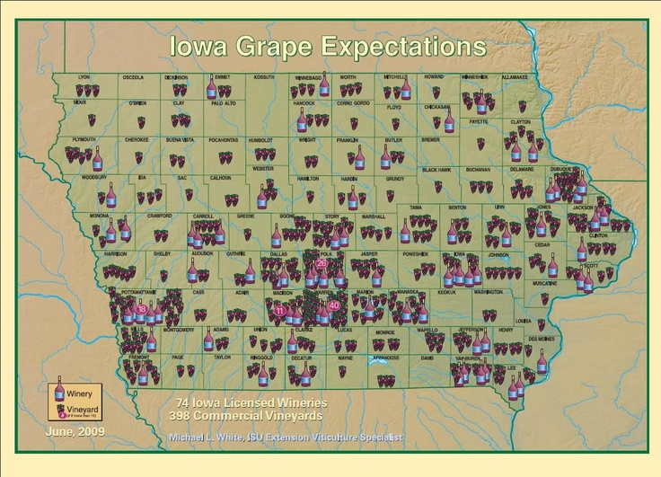 Iowa Grape ExpectationsRegions Maps