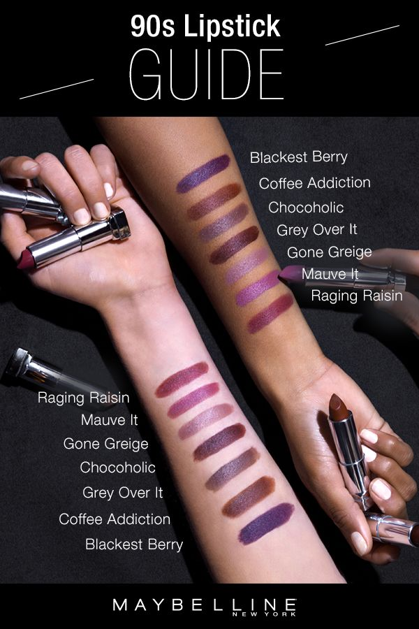 The 90's are back as a spring makeup trend and we love it! Maybelline Loaded Bolds has the perfect 90's inspired lipstick shades ranging from browns to greys to berries and plums. This lipstick swatch guide provides inspiration for an everyday lip look. And, if you're looking to wear this makeup trend for your spring makeup look, click through for a full list of the 20 shades!
