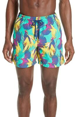 7d09fbf00a VILEBREQUIN Designer Birds Of Paradise Swim Trunks | Clothing ...