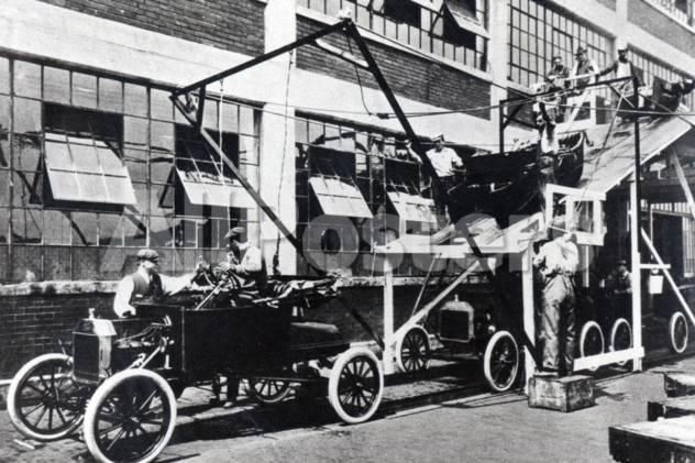 A Ford Motor Company Assembly Line 1913 Transportation