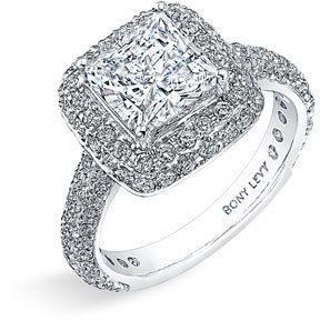 Nordstrom Bony Levy 'Bridal' Pavé Diamond Semi Mount Ring Exclusive) on shopstyle.com