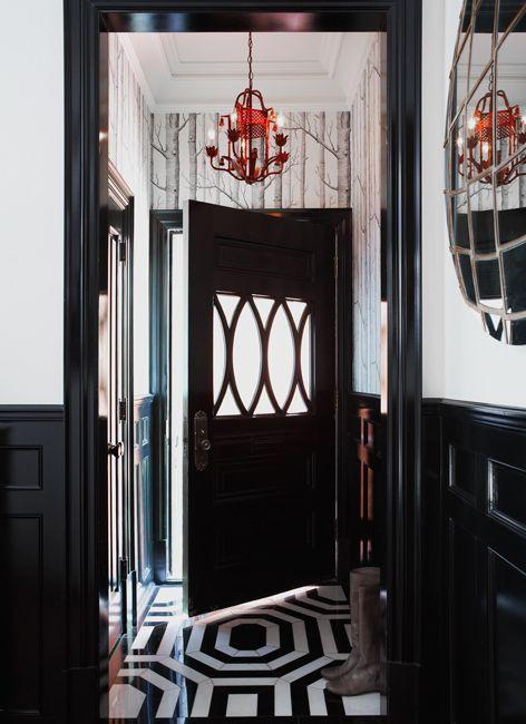 .Decor, The Doors, Floors, Black Doors, Black And White, Front Doors, Homes, Entryway, Design