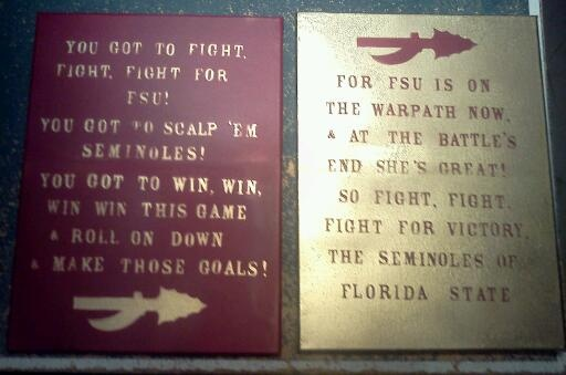 Wall decor! FSU fight song! Canvas, stickers, spray paint