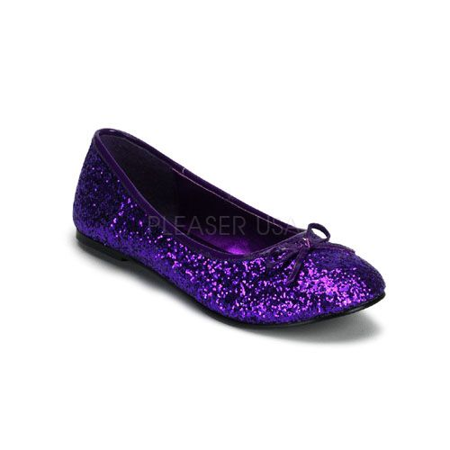 Purple Glitter Ballet Flat Shoes These Might Be Kinda Fun