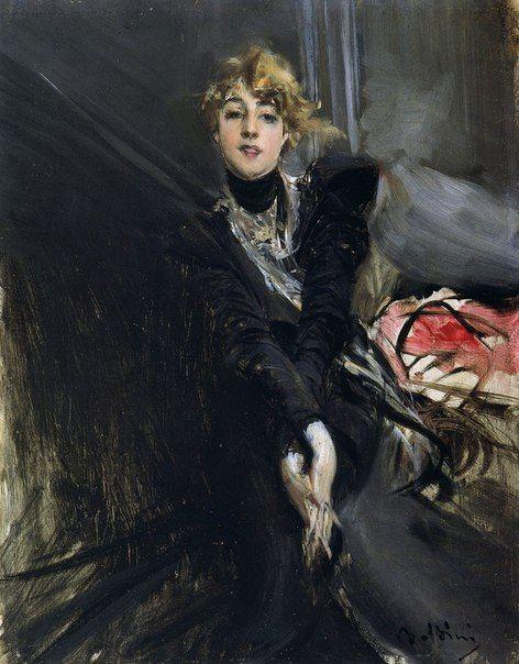 Giovanni Boldini   Джованни Больдини (1842-1931) The Actress Jane Renouardt