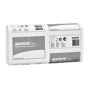 Листовые бумажные полотенца 344013/34401 Katrin Plus One Stop L3 — Бумажные полотенца Катрин (Katrin) Z сложения листовые — Бумажные полотен...