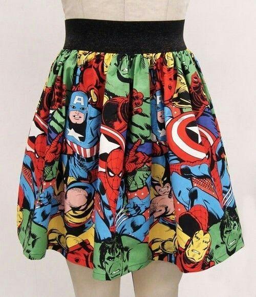 Dressin up for the bad boys | #fashion #skirt #skirts #skater #skaterskirt Avengers