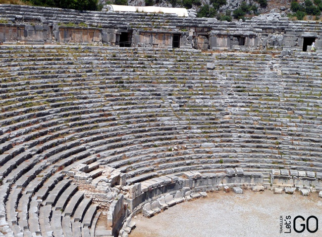 Amphitheatre in Lykia, near Kemer, Turkey