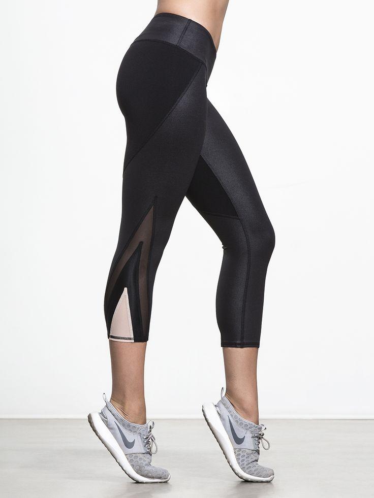 Range Capri Legging in Black by Alo Yoga from Carbon38