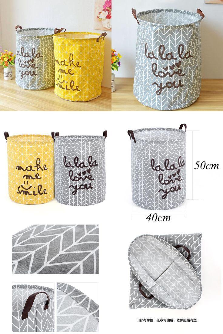[Visit to Buy] Large Laundry Storage  Hamper Box Fabric Foldable Bathroom Clothes  Toy Storage Basket Bags Panier Opbergzak Speelgoed #Advertisement