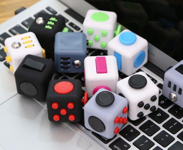 11 Types Fidget Cube Toys A Vinyl Desk Kickstarter Toys For Girl Boys Chrismtas Gifts Fidget Cube Black Green Grey Red Toys Cube