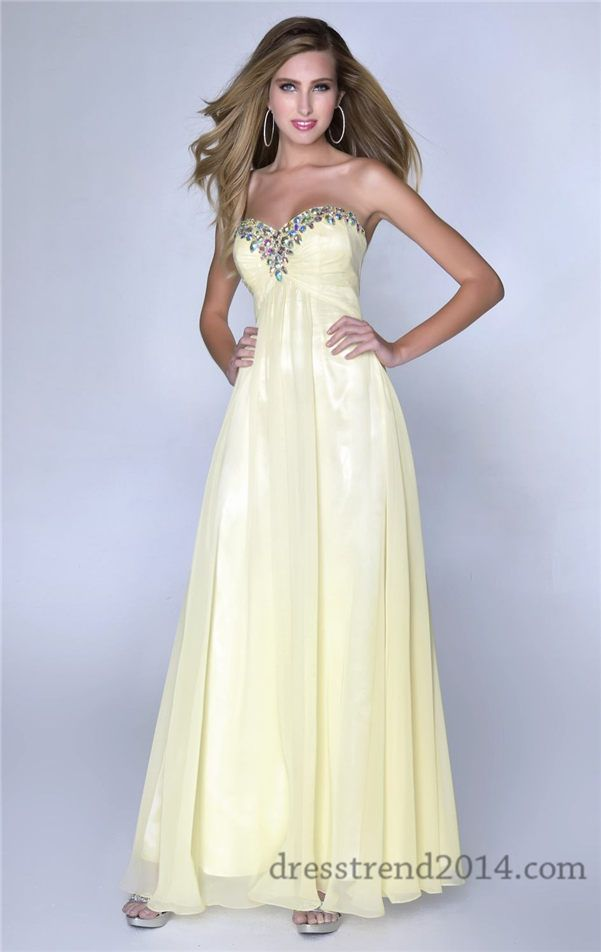 28 best yellow prom dresses 2014 images on Pinterest | Dresses 2014 ...