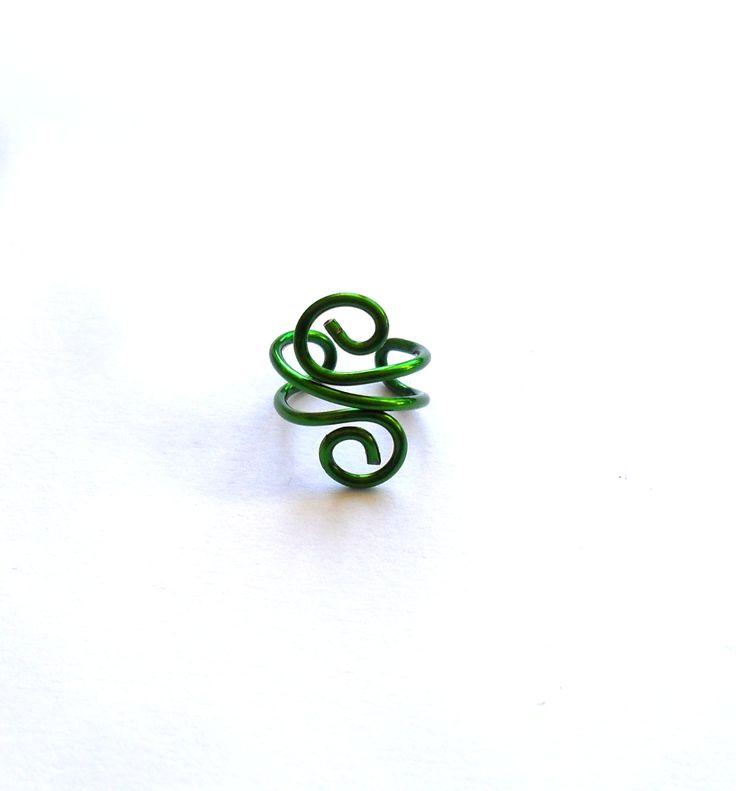 Grön ear cuff