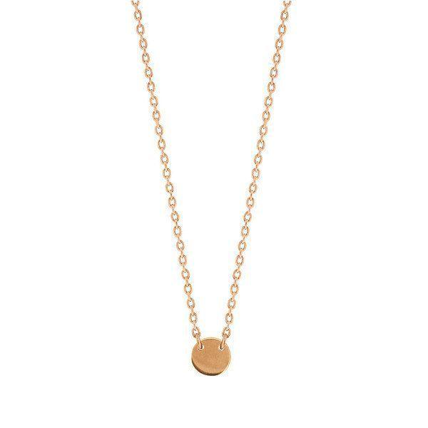 Little Disc Necklace - Rose: