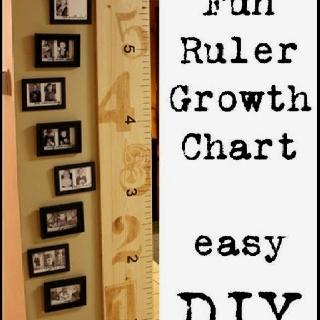 Fun ruler style wall growth wall chart
