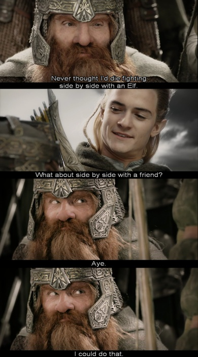 gimli and legolas relationship