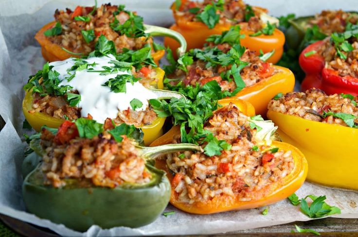 ... for busy mums: Stuffed Peppers with Minced Pork, Vegetables & Rice
