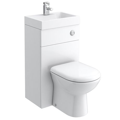 Nova Combined Two-In-One Wash Basin - ideal for putting in a downstairs loo under the stairs