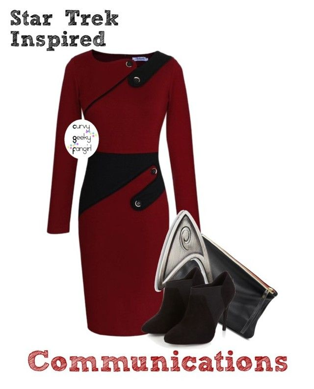 """Star Trek Inspired: Communications"" by curvygeekyfangirl ❤ liked on Polyvore"