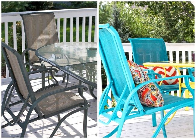 Want To Add Some Color To Your Outdoor Patio Furniture? Try Spray Painting  Them With