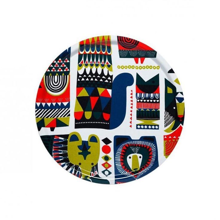 Inspired by the wise forest animals in Finnish folk tales and printed in retro mustard, bottle green and cheerful red, this enormous, round laminated birch tray from MARIMEKKO may well represent the pinnacle of your timeless summer present-giving career. #summershere #marimekko  http://sorrythanksiloveyou.com/products/view/kukkuluru-tray