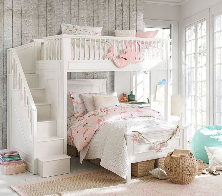 remarkable little girls bunk beds bedroom ideas | Mermaid Bedding | Girls Bedroom Ideas | Girls bunk beds ...