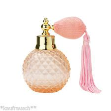Parfumflakon rosa m.Quaste Zerstäuber Lisbeth Dahl Flakon shabby Vintage flacon