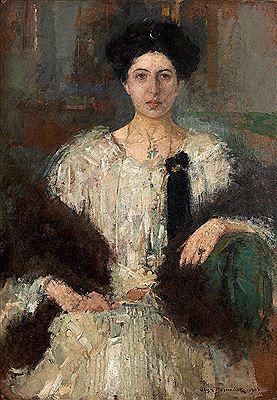 Olga Boznańska, Portret, 1905, 100x70 cm. Sygnowany i datowany.