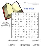 Bible Word Search  Days of Creation Wk 1