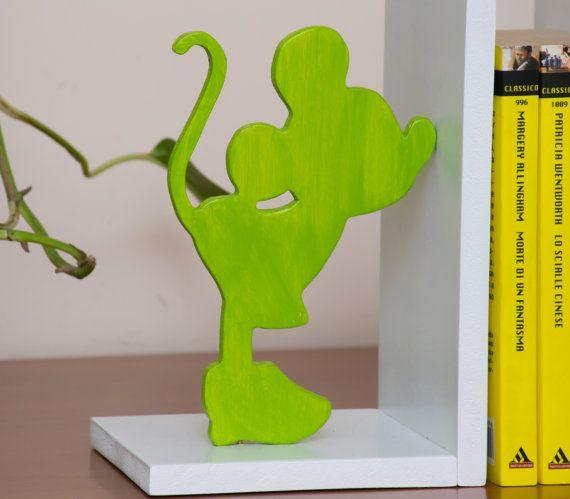 Hey, ho trovato questa fantastica inserzione di Etsy su https://www.etsy.com/it/listing/234750662/fermalibri-legno-love-verde-acido-coppia