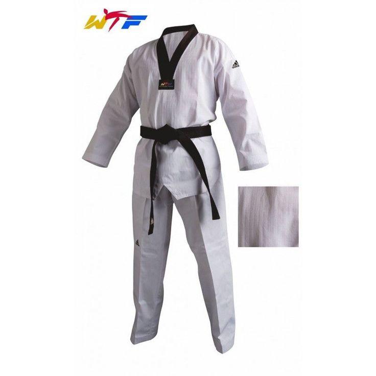 Dobok Taekwondo ADIDAS CHAMPION II cuello negro   #Taekwondo #SacosdeBoxeo #DobokDaedo #DobokAdidas #Hapkido #Aikido #BJJ #Karate #Judo #Boxeo #Ninjutsu #CletoReyes #Rudeboys #Mizuno #Sambo
