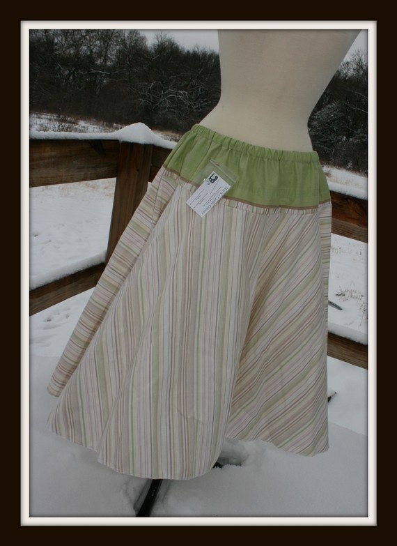 Full Circle Skirt in Earthy Colors