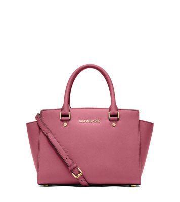 Selma Saffiano Leather Medium Satchel