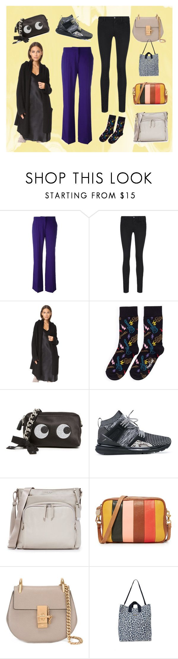 """""""Casual Looks"""" by justinallison ❤ liked on Polyvore featuring J Brand, ThePerfext, Happy Socks, Anya Hindmarch, Puma, Tumi, Clare V. and STELLA McCARTNEY"""