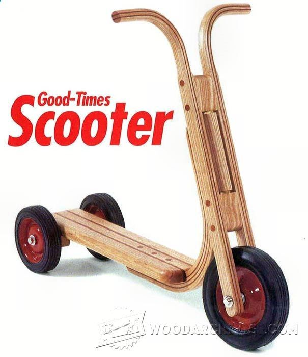 Wooden Scooter Plans - Children's Wooden Toy Plans and Projects | WoodArchivist.com