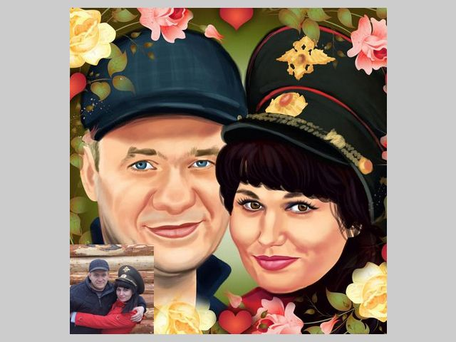 14 best custom digitally illustrated anniversary couples