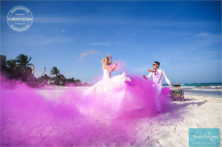 #DestinationWeddings  #TrashTheDress #Colors #RivieraMaya Mexico