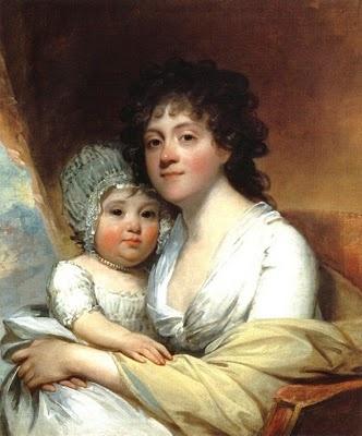 Elizabeth Corbin and daughter,Elizabeth,1798,by Gilbert Stuart (1755-1828)