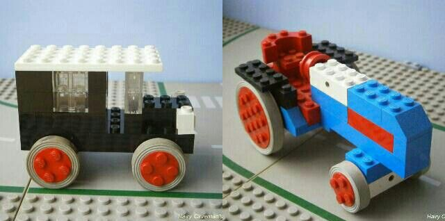 1960s Lego taxi and tractor