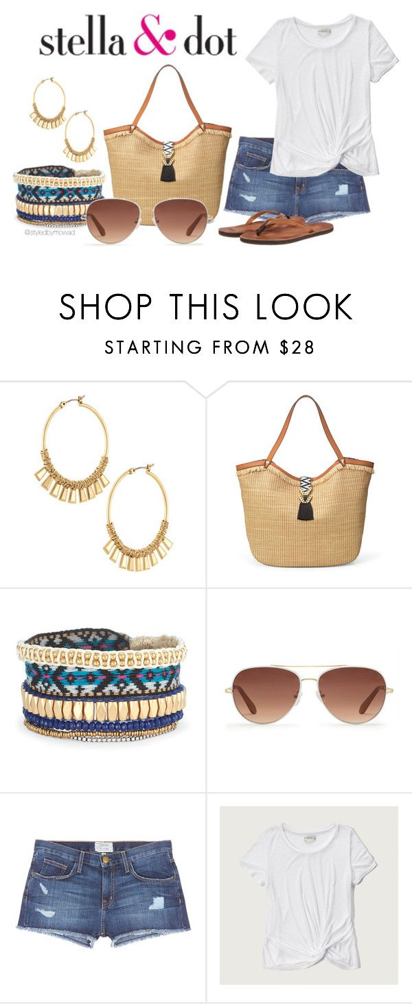 Summer Look by styledbymowad on Polyvore featuring Abercrombie & Fitch, Current/Elliott, Cushe and Stella & Dot