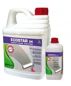 Ecostar 2K antibatterica per pavimenti in resina.  Finitura antibatterica all'acqua per pavimenti in resina.