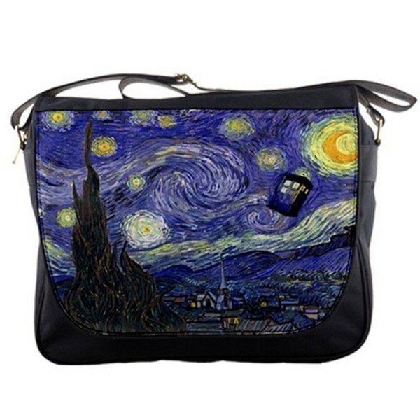 Tardis-Police-Call-Box-Starry-Night-Van-Gogh-Messenger-Shoulder-Bag