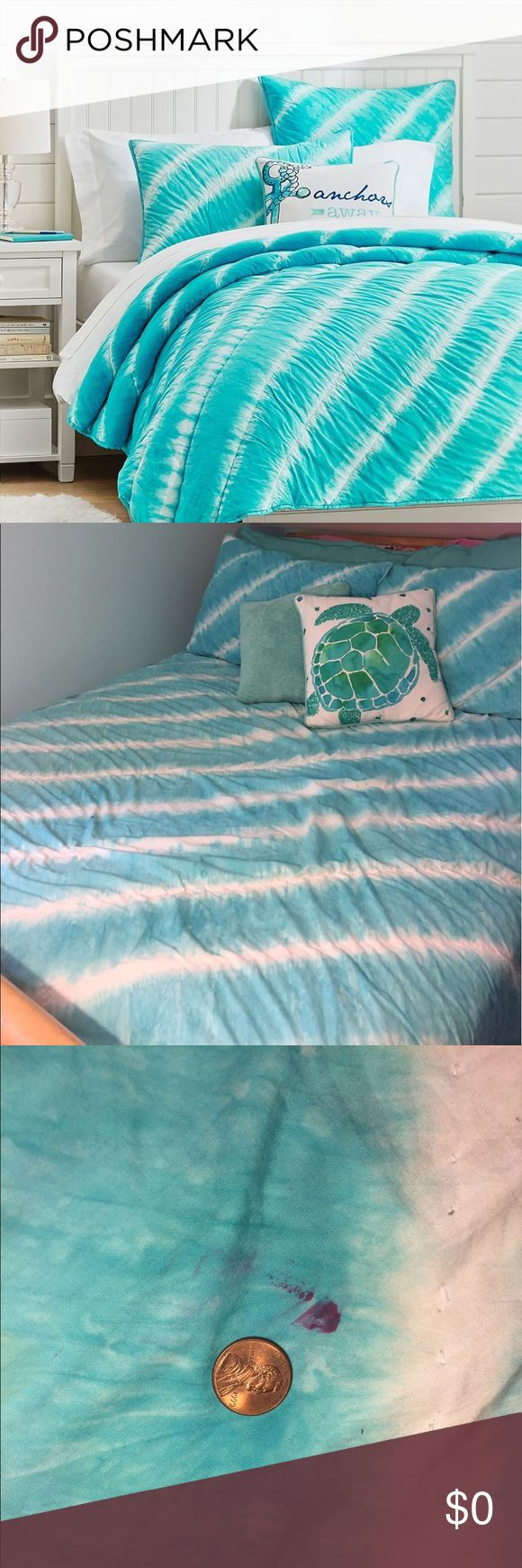 Bundle!! Tahiti Tie Dye Quilt+Sham Set See invididual listings for details. Shams in great condition. Small nail polish stain on quilt. Decorative pillows not included. Pottery Barn Teen Other