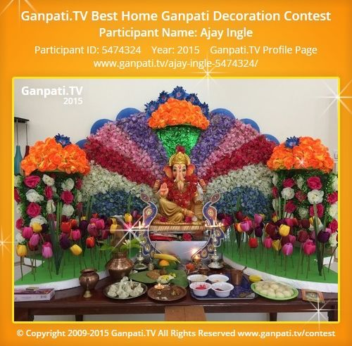 25 best ideas about ganpati festival on pinterest wall for Artificial flower decoration for ganpati