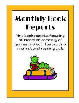 "These nine book reports encourage students to read a variety of genres and demonstrate understanding of both literature and informational CCSS standards.  Genres include realistic fiction, nonfiction, poetry, and more!The directions lend themselves to easy differentiation, as students choose ""good fit"" books for themselves.Book reports are perfect for home projects, class enrichment, book studies, homeschooling, or more!!!"