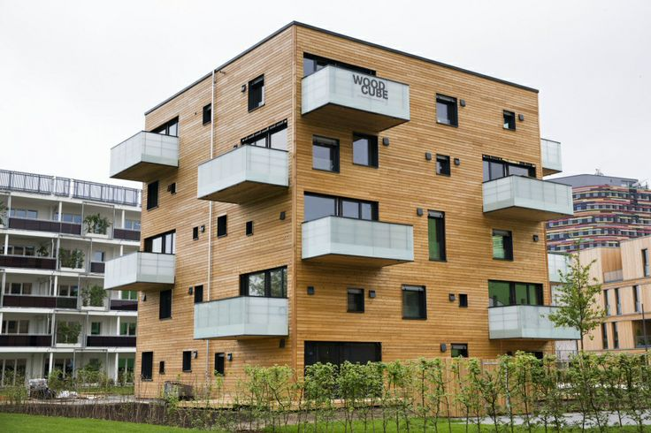 Designed with Dlubal Software: Woodcube - A 5-Story Timber Building in Hamburg   www.dlubal.com   #bim #cad #dlubal #dynamics #eurocode #engineering #engineeringsoftware #fem #rfem #rstab #staticanalysis #structuralanalysis