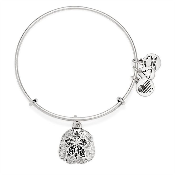 Sand Dollar Charm Bangle Blessing • Legend • Treasure | ALEX AND ANI