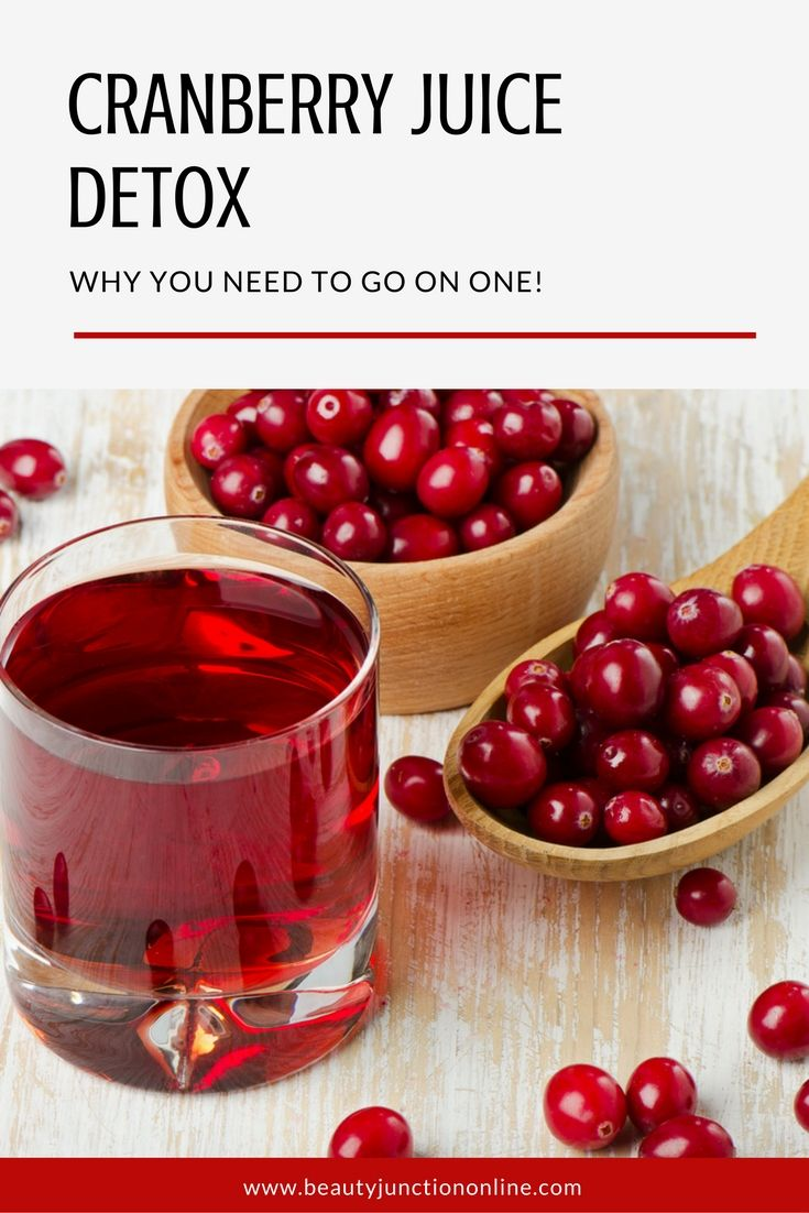Discover why you need to go on a cranberry juice detox!